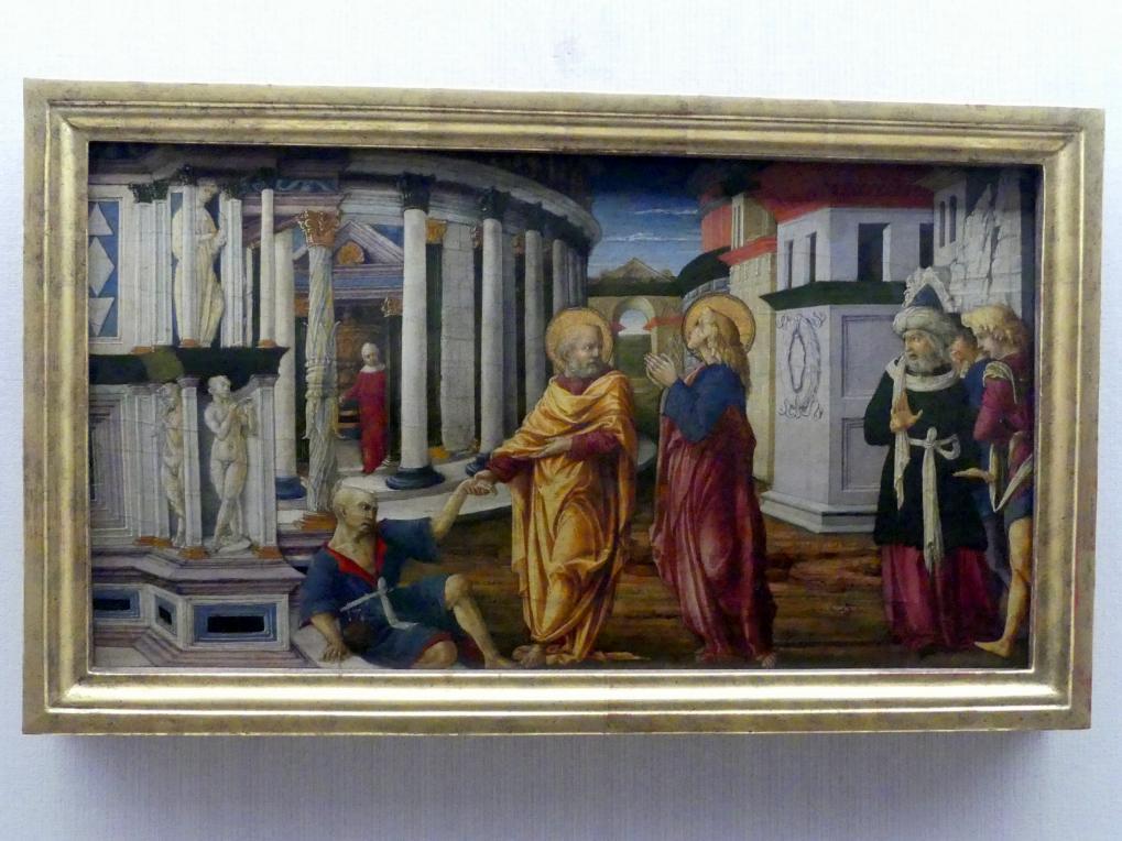 Liberale da Verona: Petrus heilt einen Lahmen, Um 1469 - 1470