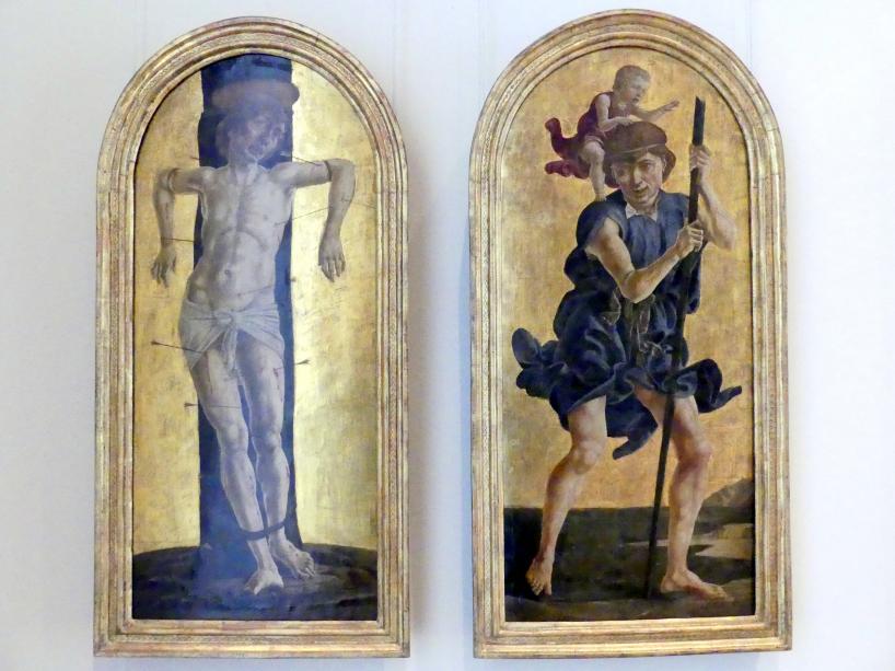 Cosmè (Cosimo) Tura: Der hl. Sebastian, der hl.Christophorus, um 1484