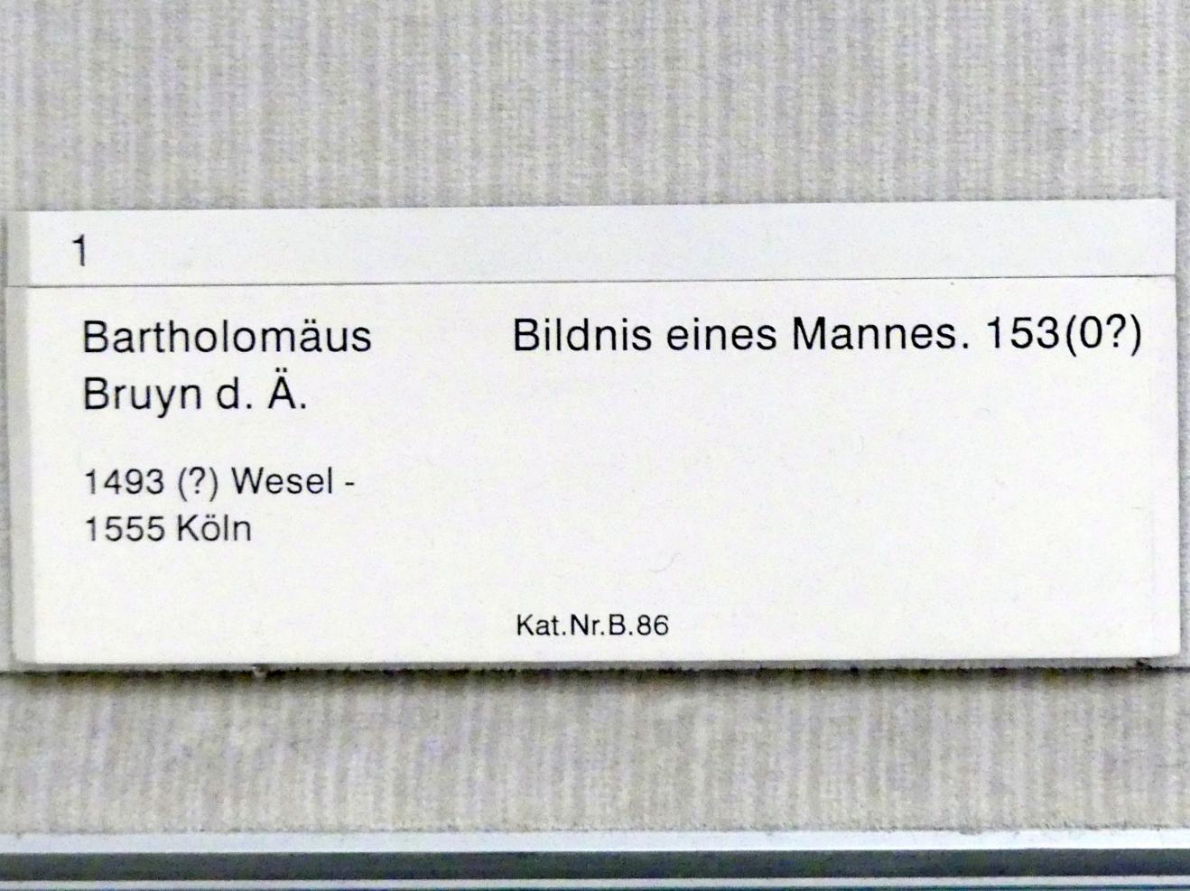 Bartholomäus Bruyn der Ältere: Bildnis eines Mannes, nach 1530, Bild 2/2