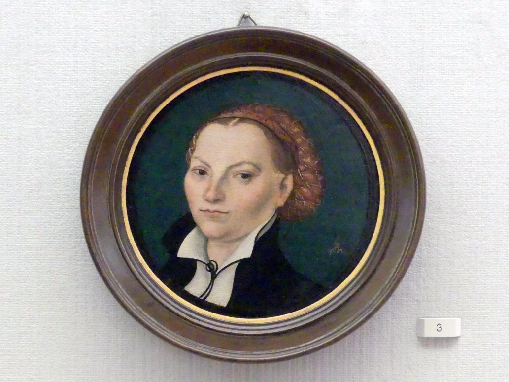 Lucas Cranach der Ältere: Katharina von Bora (1499-1552), Gemahlin Martin Luthers, um 1525