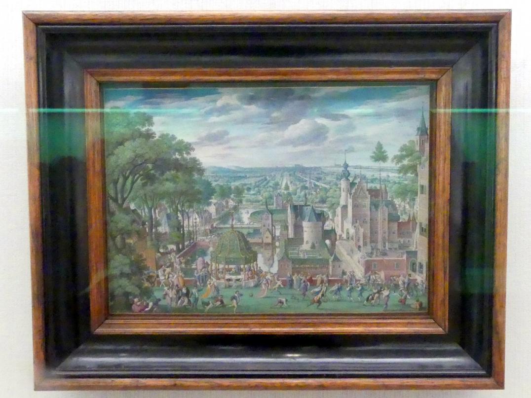 Hans Bol: Parklandschaft mit Schloss, 1589