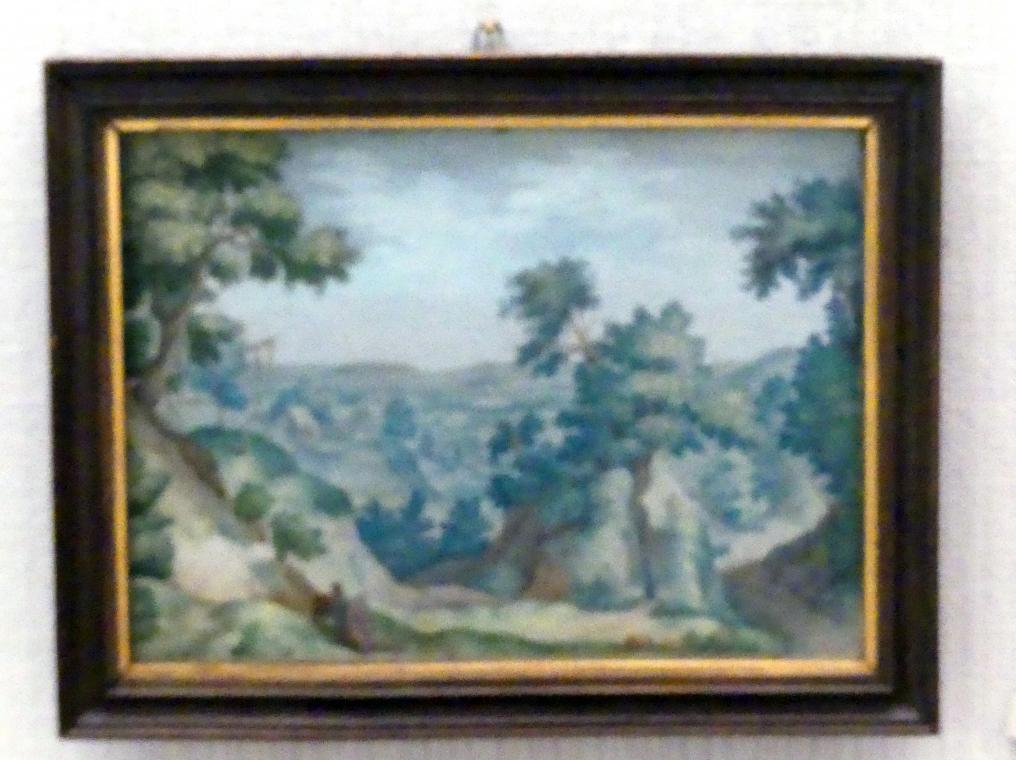 Hans Bol (Nachfolger): Landschaft mit dem barmherzigen Samariter, Undatiert