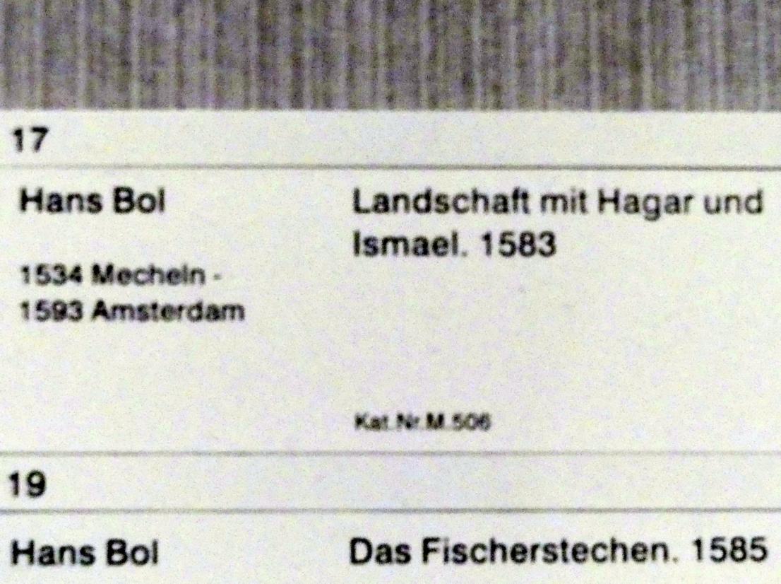 Hans Bol: Landschaft mit Hagar und Ismael, 1583