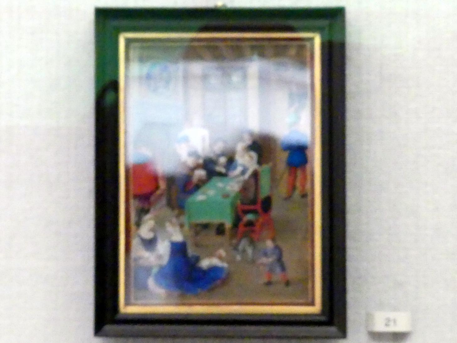 Hans Bol: Vornehme Familie im Zimmer beim Spiel, 1583