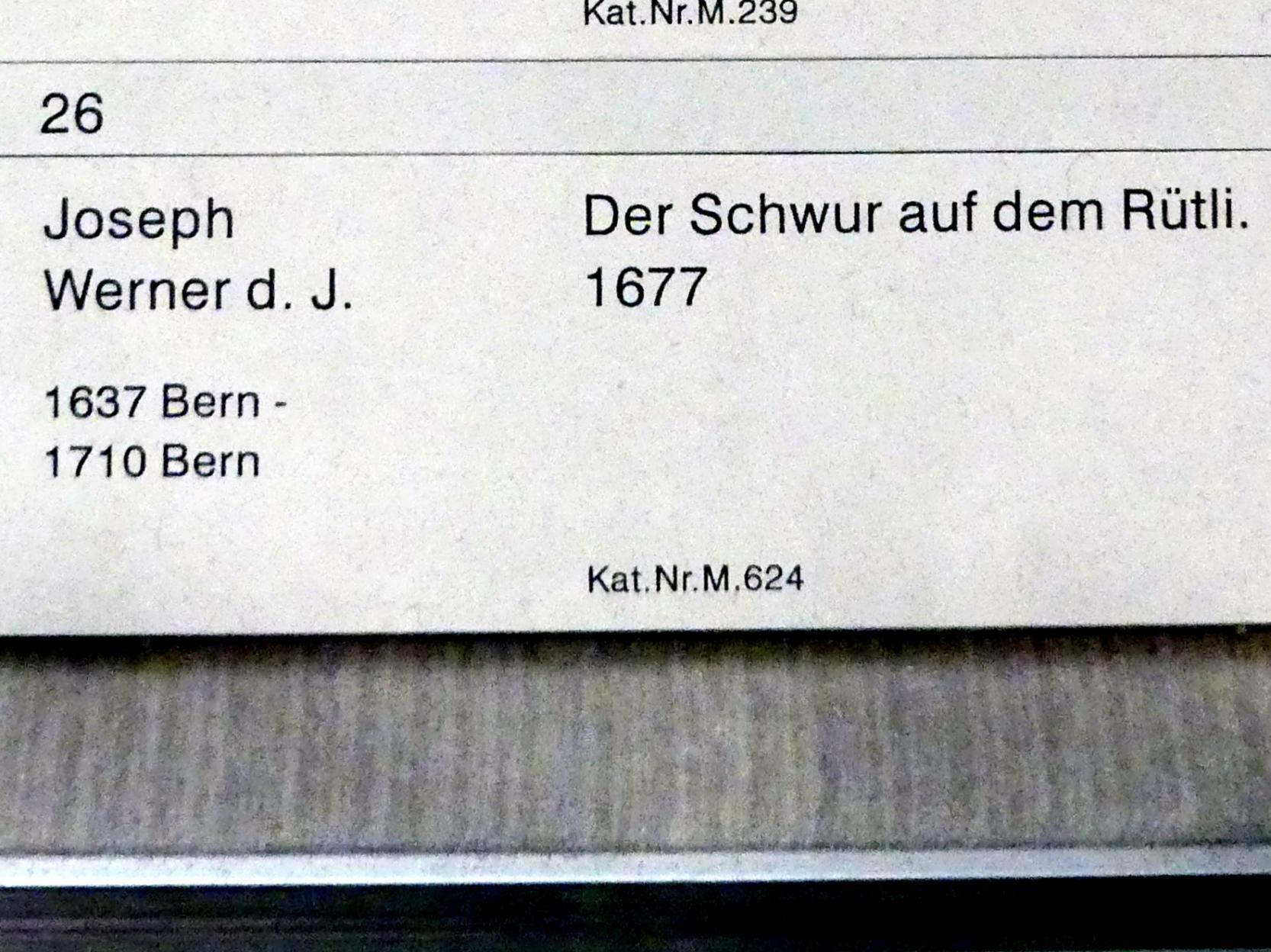 Joseph Werner der Jüngere: Der Schwur auf dem Rütli, 1677, Bild 2/2