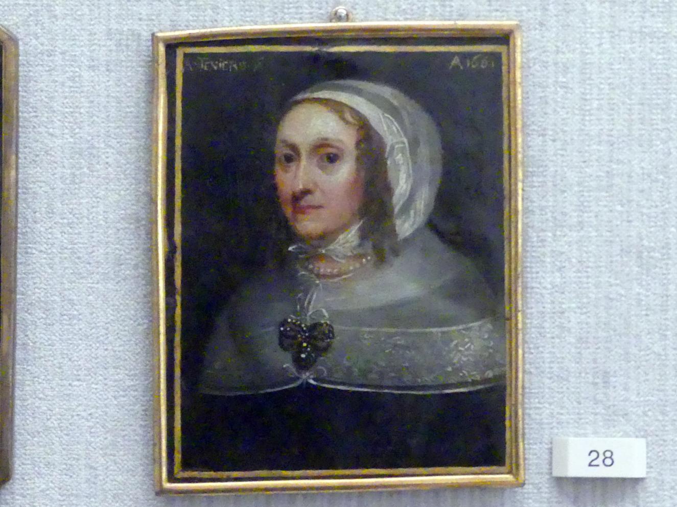 Abraham Teniers: Bildnis einer älteren Frau, 1661