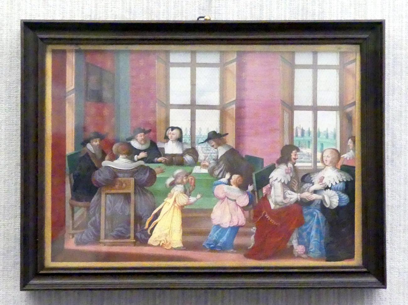 Abraham Bosse (Kopie): Der Heiratsvertrag, Undatiert