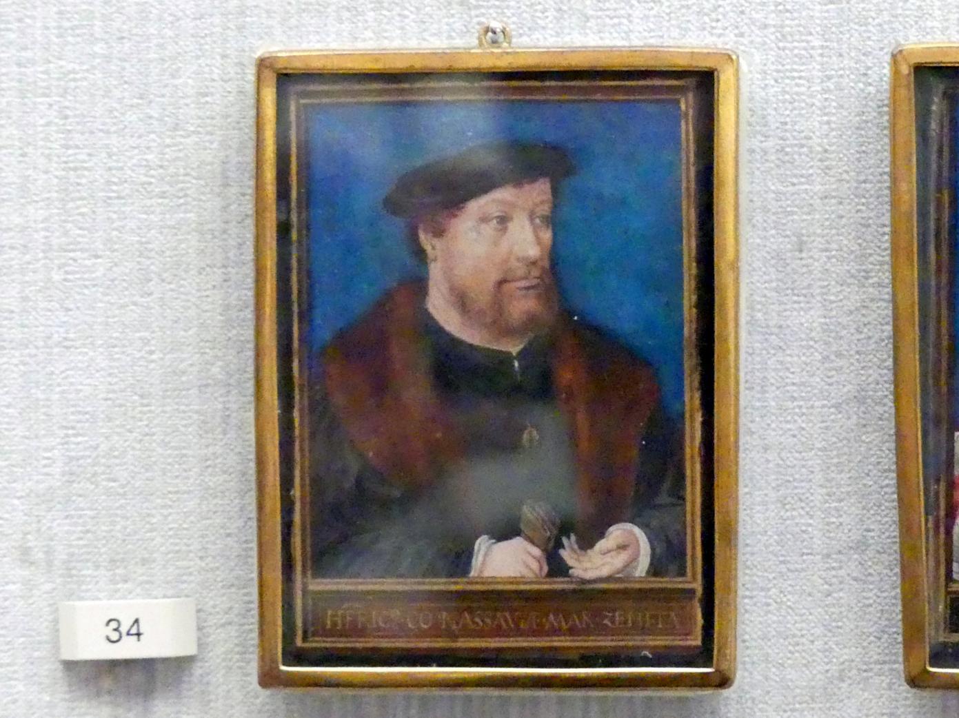 Simon Bening: Heinrich III. (1483-1538), Graf von Nassau und Herr von Breda, um 1531