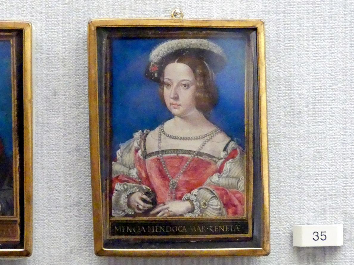 Simon Bening: Mencia de Mendoza (1508–1554), Marquesado del Cenete, dritte Gemahlin Heinrich III., Um 1531