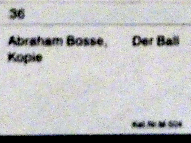 Abraham Bosse (Kopie): Der Ball, Undatiert, Bild 2/2
