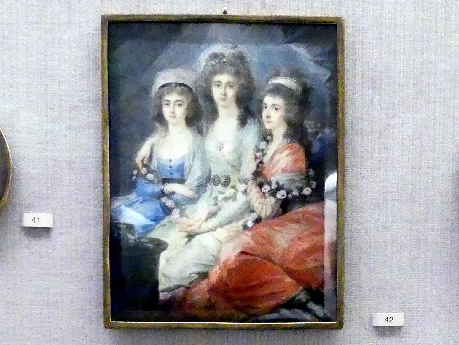 Heinrich Friedrich Füger: Die Gräfinnen Elisabeth.Christiane und Marie Karoline Thun-Hohenstein-Klösterle, 1788