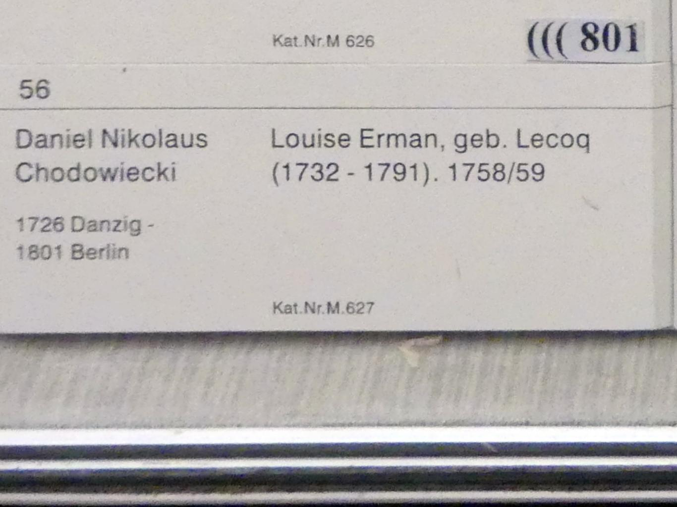 Daniel Nikolaus Chodowiecki: Louise Erman, geb. Lecoq (1732-1791), 1758 - 1759