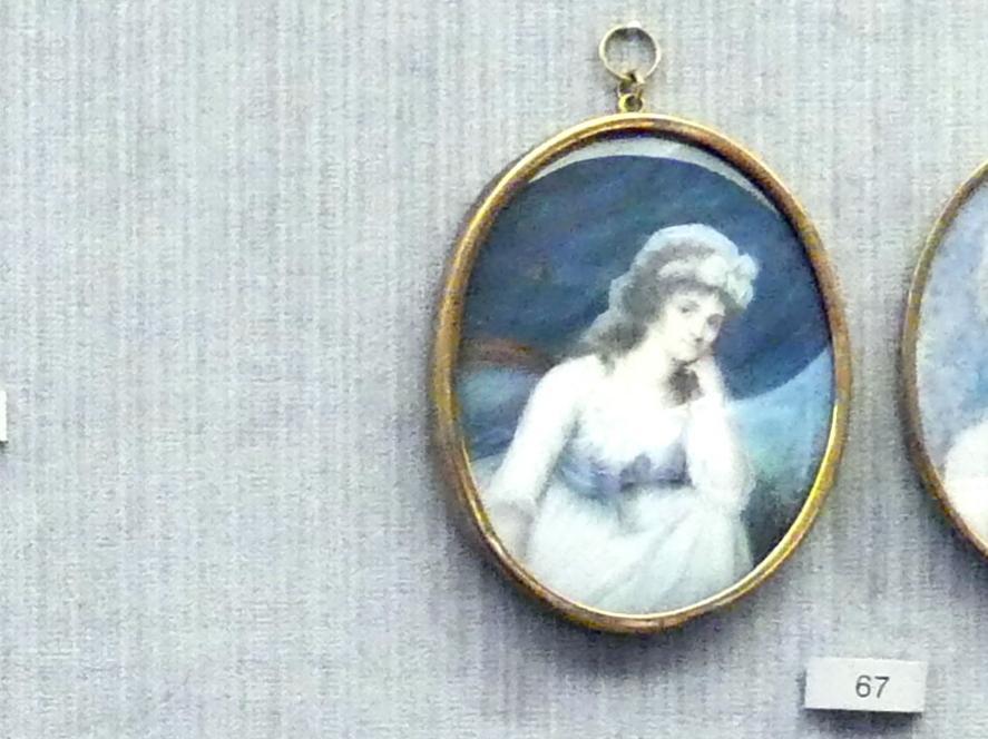 Marie-Élisabeth-Jeanne Simons Delatour: Bildnis einer jungen Dame mit weißer Haube, Um 1790