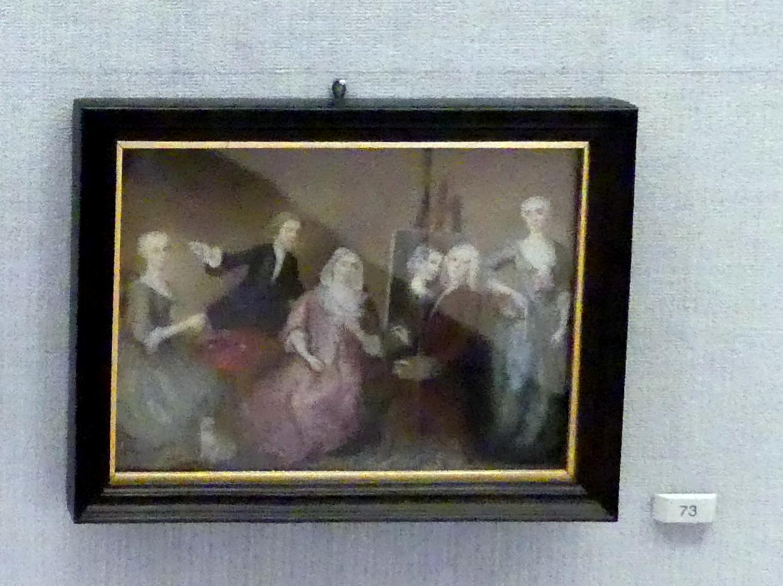 Jacob Wessel: Selbstbildnis mit Familie, um 1740