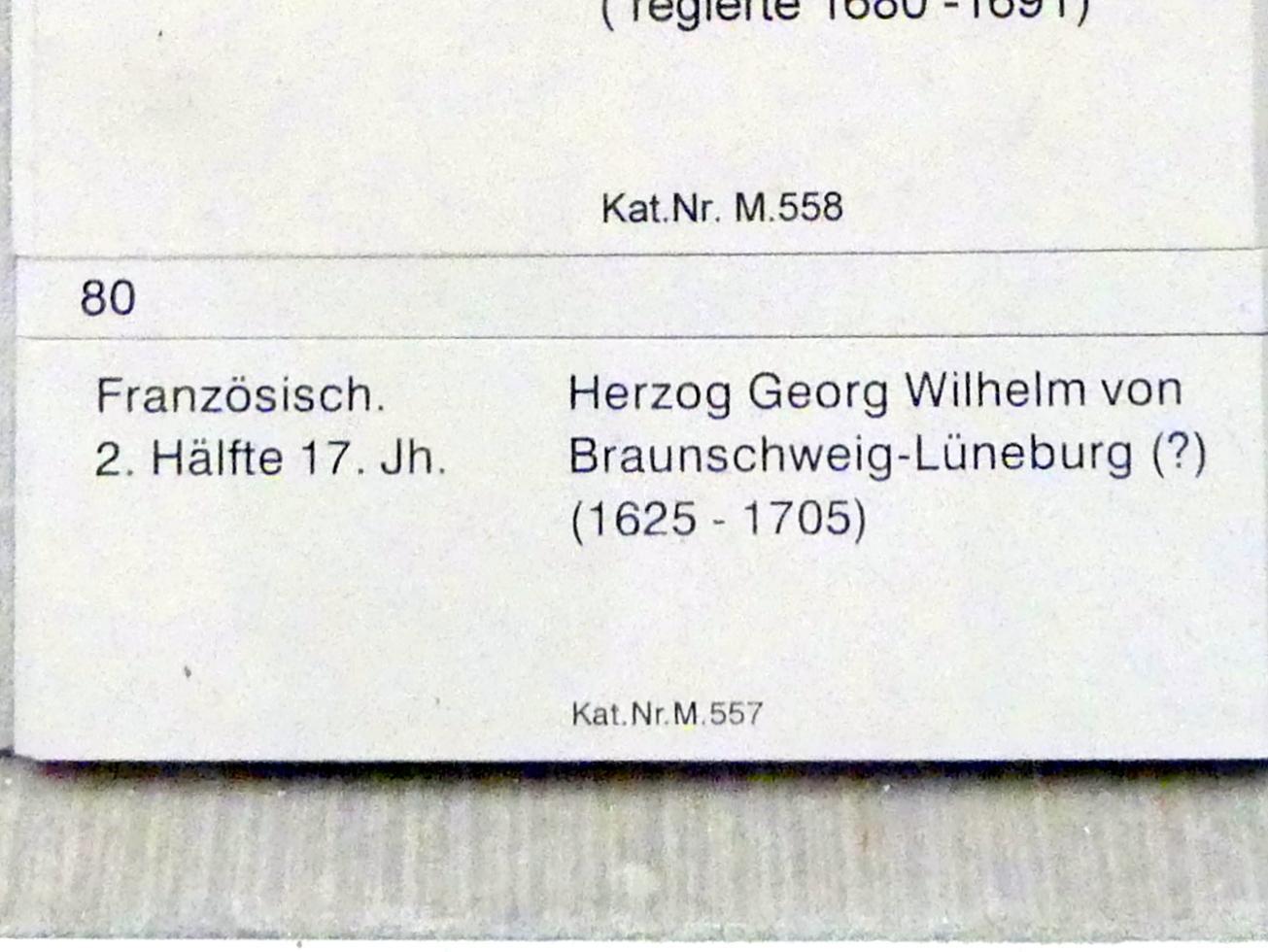 Herzog Georg Wilhelm von Braunschweig-Lüneburg (?) (1625-1705), 2. Hälfte 17. Jhd., Bild 2/2