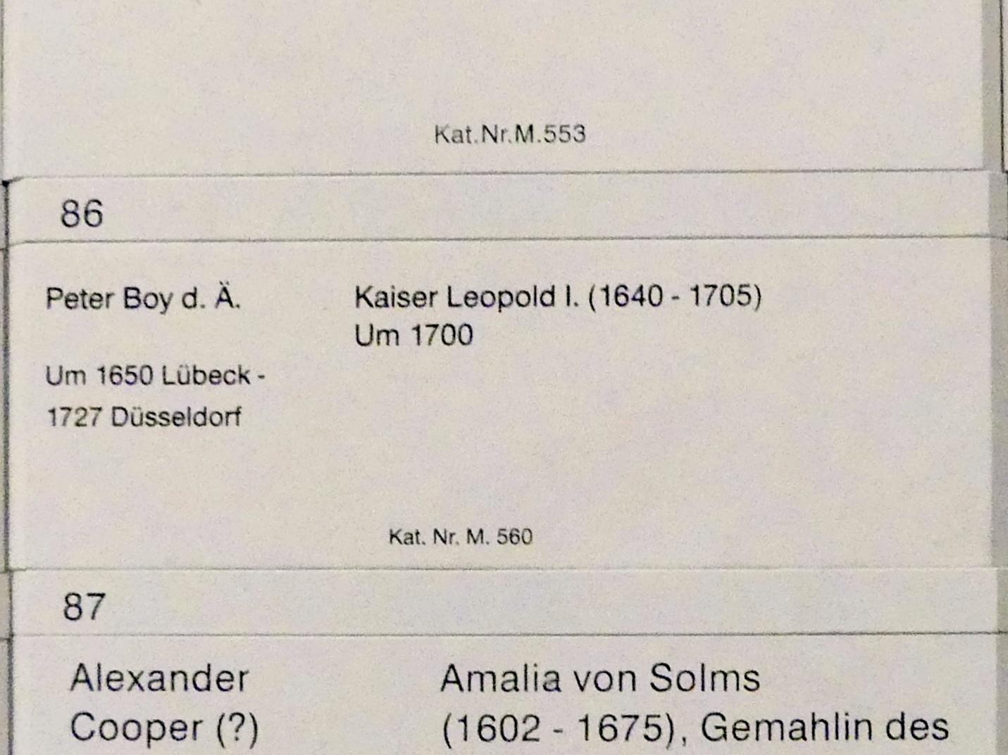 Peter Boy: Kaiser Leopold I. (1640-1705), um 1700, Bild 2/2