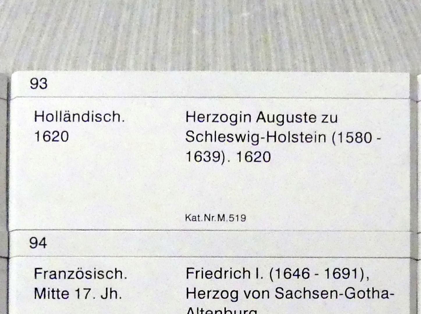 Herzogin Auguste zu Schleswig-Holstein (1520-1639), 1620