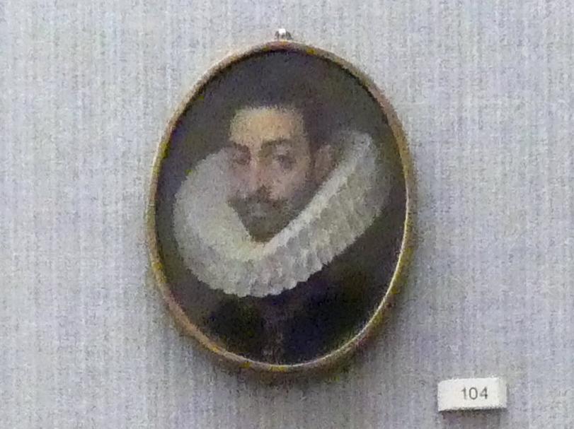 Bildnis eines Mannes mit großem Mühlsteinkragen, um 1600