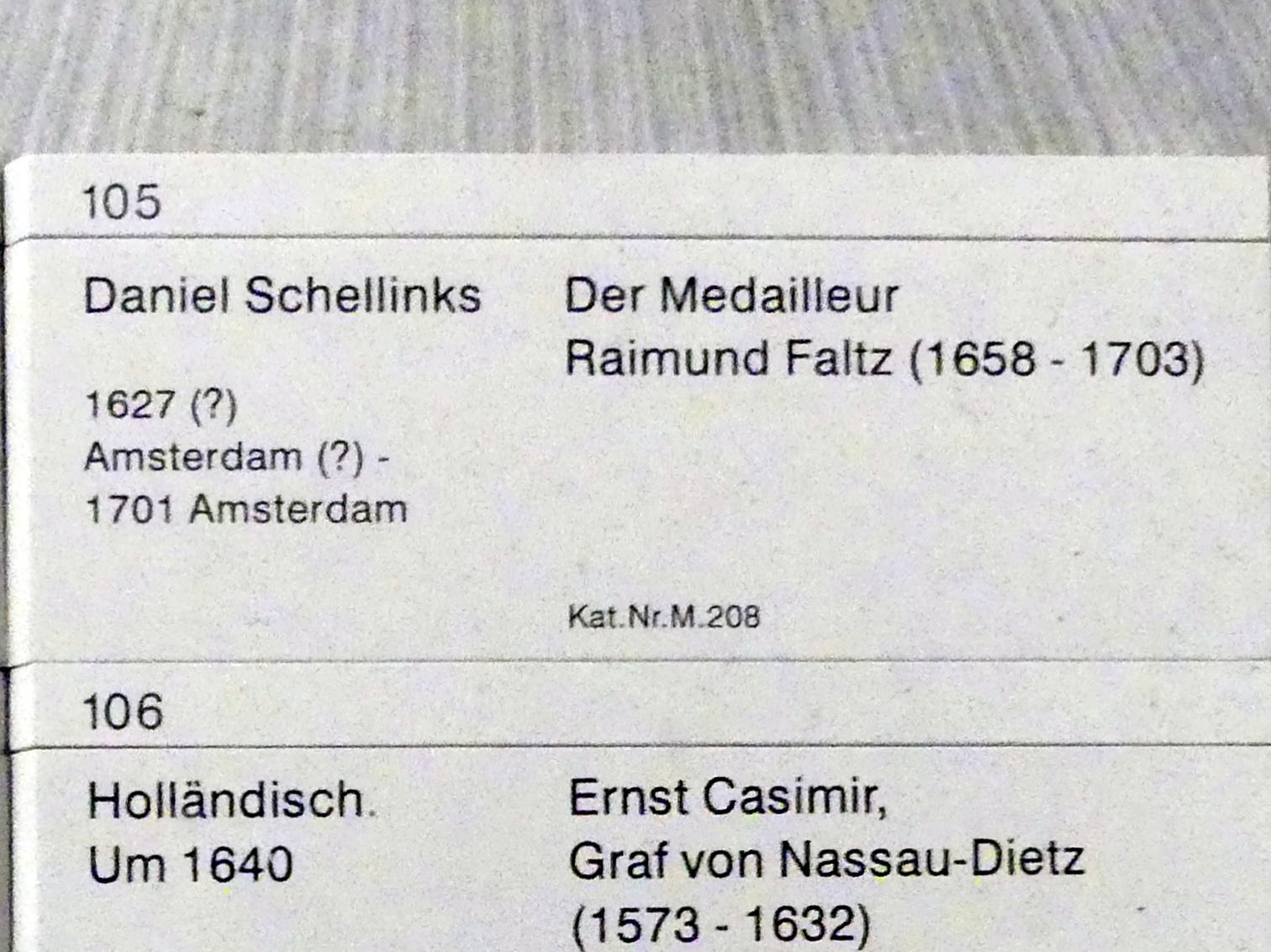 Daniel Schellinks: Der Medailleur Raimund Faltz (1658-1703), Undatiert, Bild 2/2