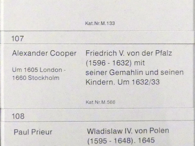Alexander Cooper: Friedrich V. von der Pfalz (1596-1632) mit seiner Gemahlin und seinen Kindern, um 1632 - 1633, Bild 2/2