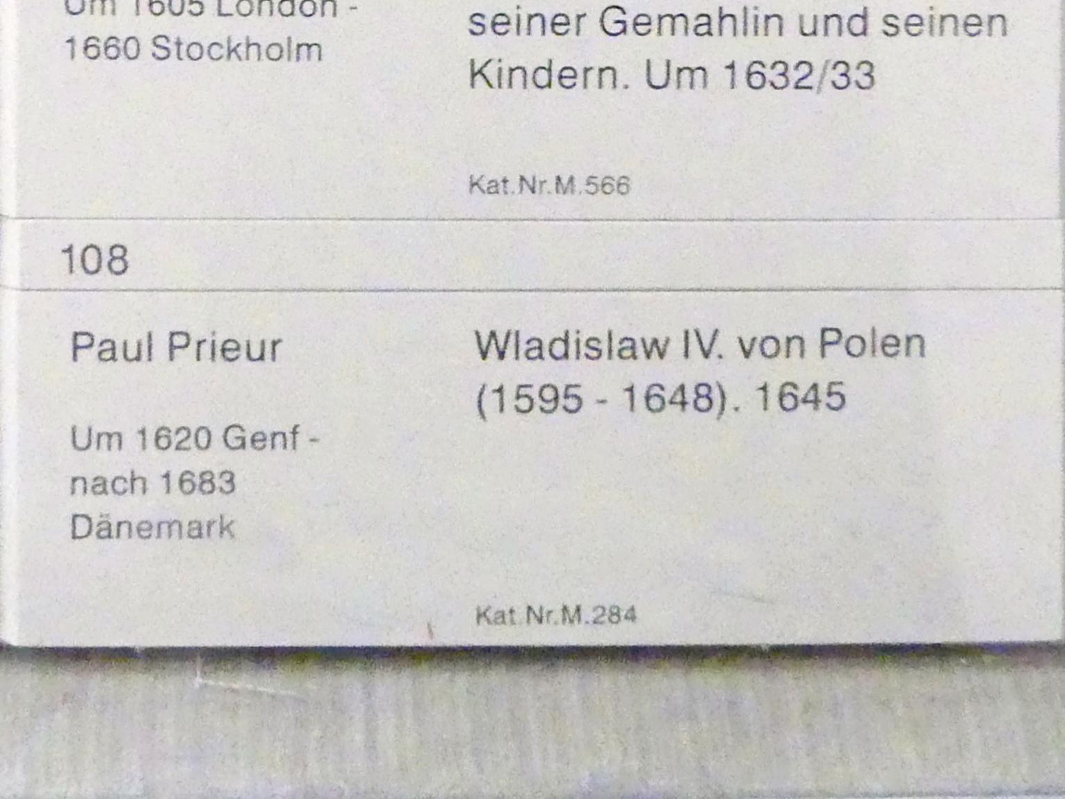 Paul Prieur: Wladislaw IV. von Polen (1595-1648), 1645