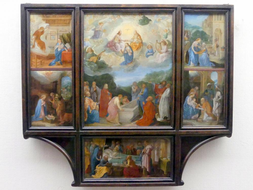 Adam Elsheimer: Hausaltärchen mit sechs Szenen aus dem Leben Mariae, um 1597 - 1598