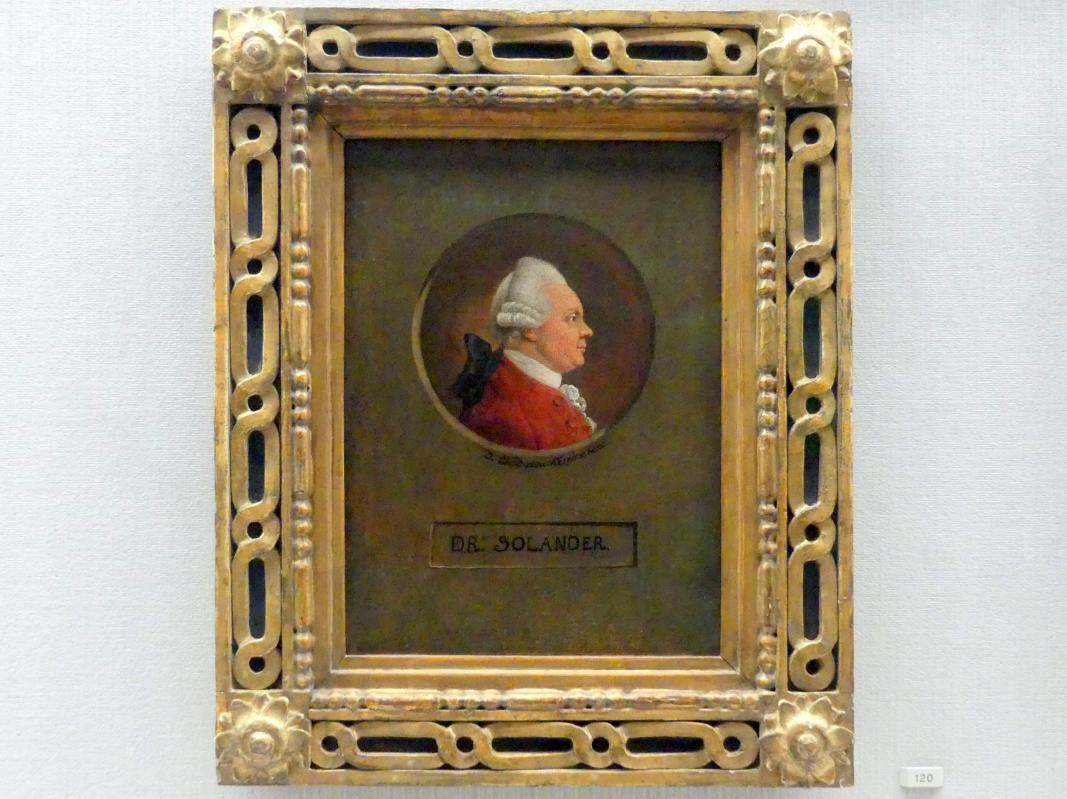 Daniel Nikolaus Chodowiecki: Der Botaniker Dr. Daniel Carlsson Solander (1733-1782), Um 1780
