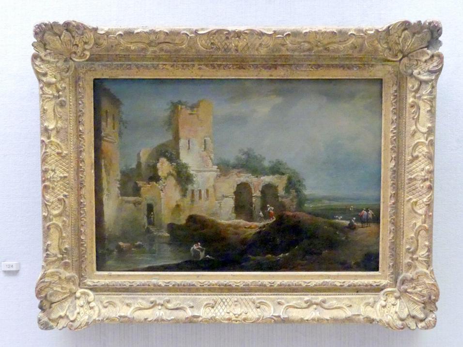 Johann Christian Brand: Ruinen an einem Gewässer, 1769