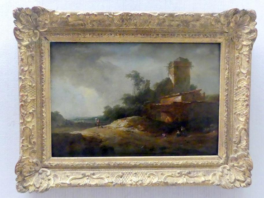 Johann Christian Brand: Landschaft mit Wartturm, Undatiert