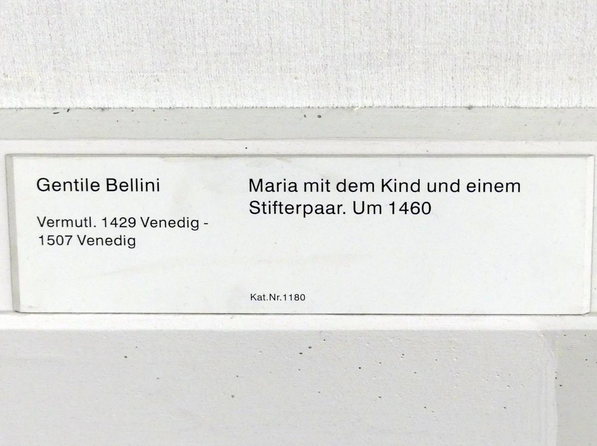 Gentile Bellini: Maria mit dem Kind und einem Stifterpaar, um 1460, Bild 2/2