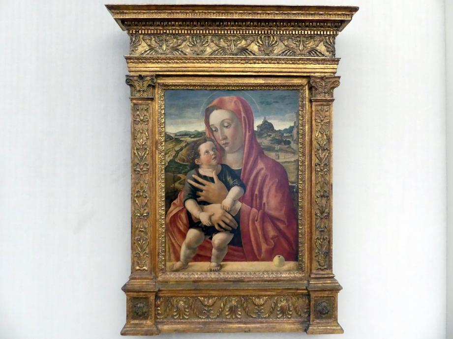Giovanni Bellini: Maria mit Kind, das auf einer Brüstung steht, Undatiert
