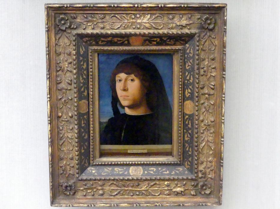 Antonello da Messina: Bildnis eines jungen Mannes, 1474