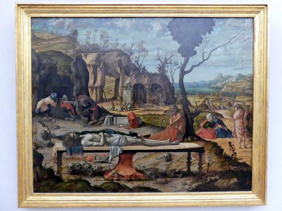 Vittore Carpaccio: Die Grabbereitung Christi, um 1505