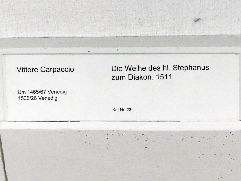 Vittore Carpaccio: Die Weihe des hl. Stephanus zum Diakon, 1511, Bild 2/2