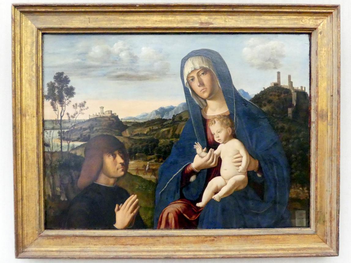 Giovanni Battista Cima (Cima da Conegliano): Maria mit dem Kind und einem Stifter, um 1492 - 1494