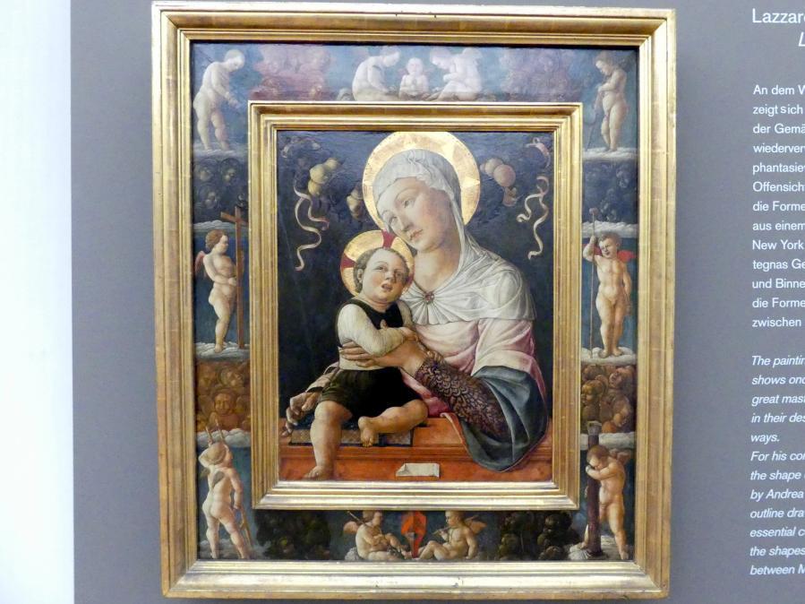 Lazzaro Bastiani: Maria mit dem Kind, in gemaltem Rahmen, Undatiert