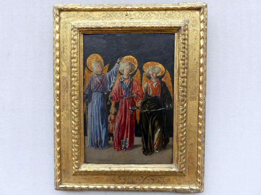 Meister von Pratovecchio: Die drei Erzengel mit dem kleinen Tobias, Undatiert