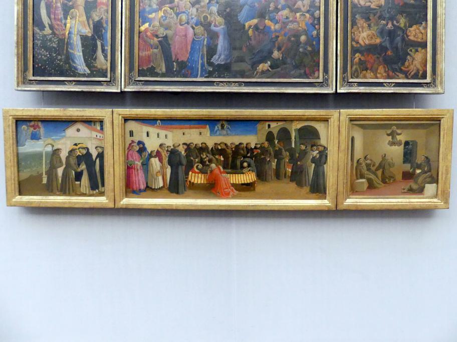 Fra Angelico: Drei Teile einer Predella, 1429