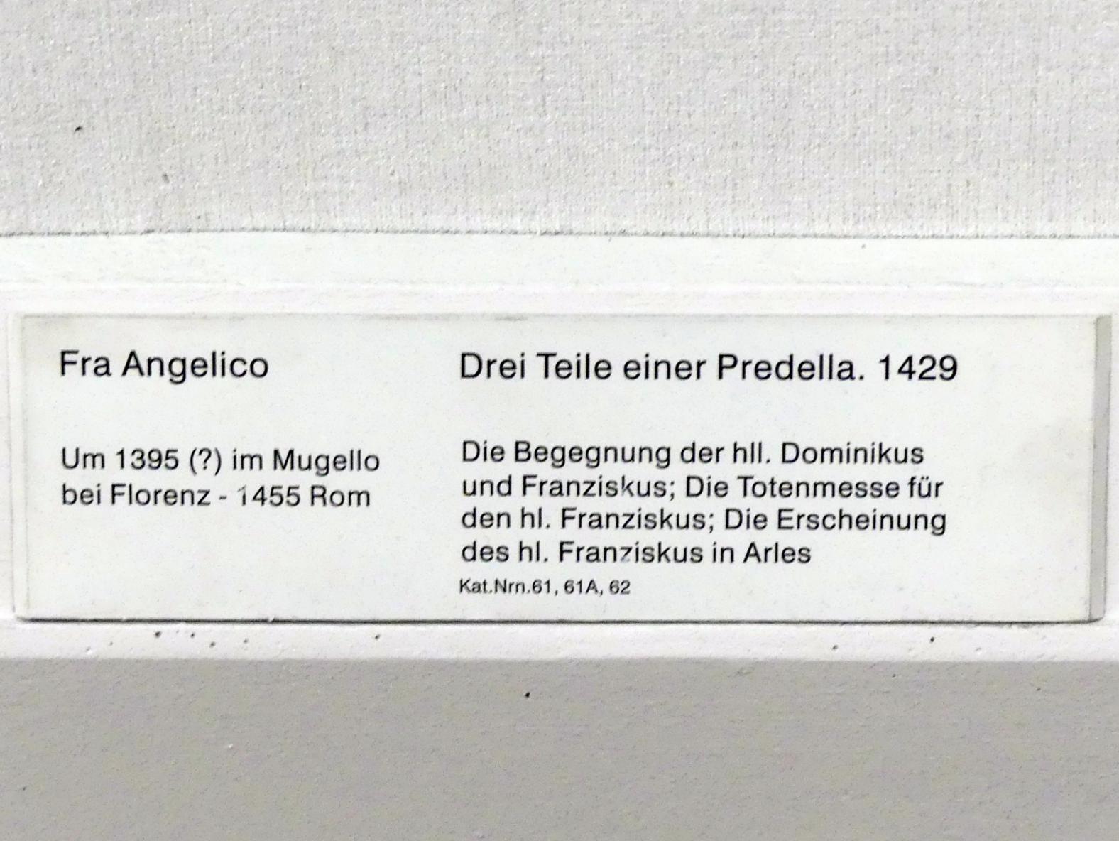 Fra Angelico: Drei Teile einer Predella, 1429, Bild 2/2