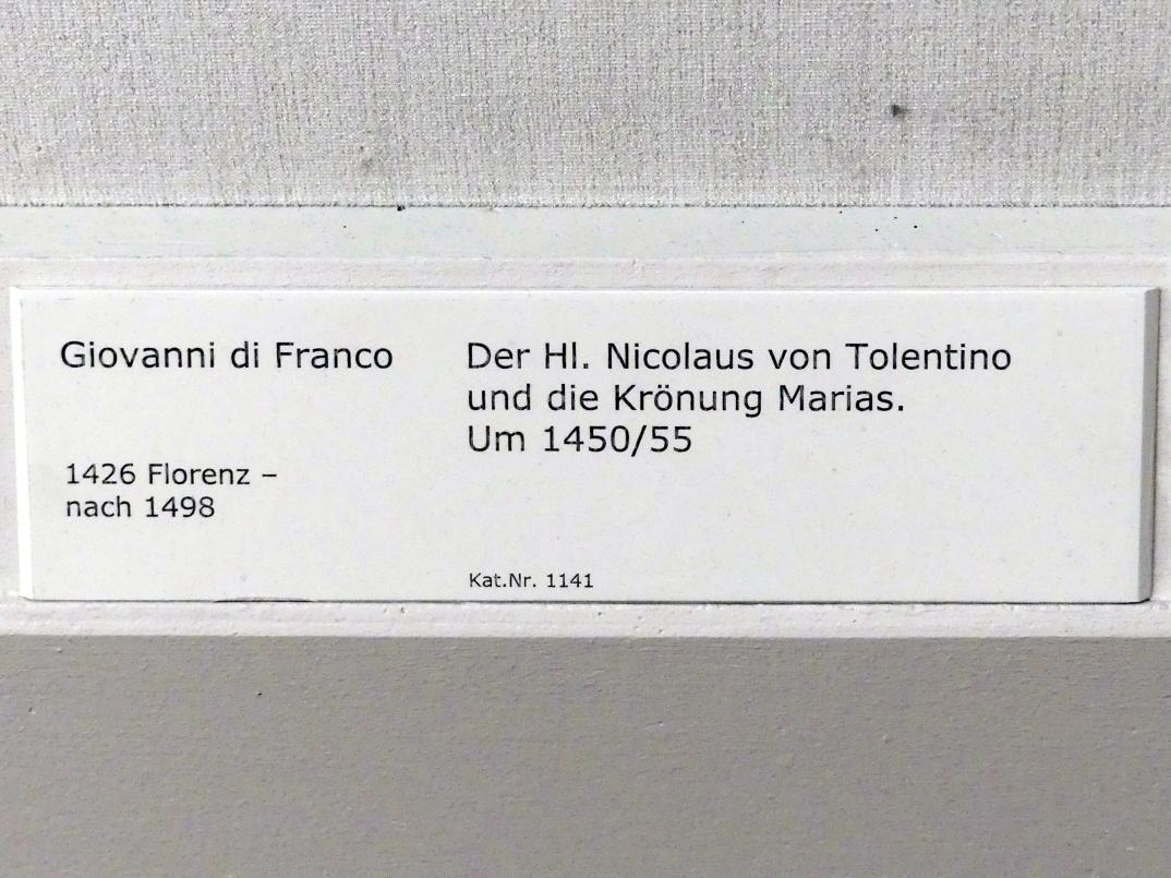 Giovanni di Franco: Der hl. Nikolaus von Tolentino und die Krönung Marias, 1450 - 1455