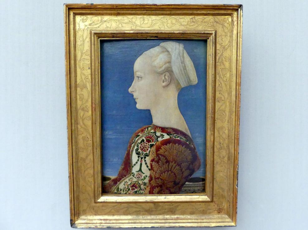 Piero del Pollaiuolo: Profilbildnis einer jungen Frau, um 1465
