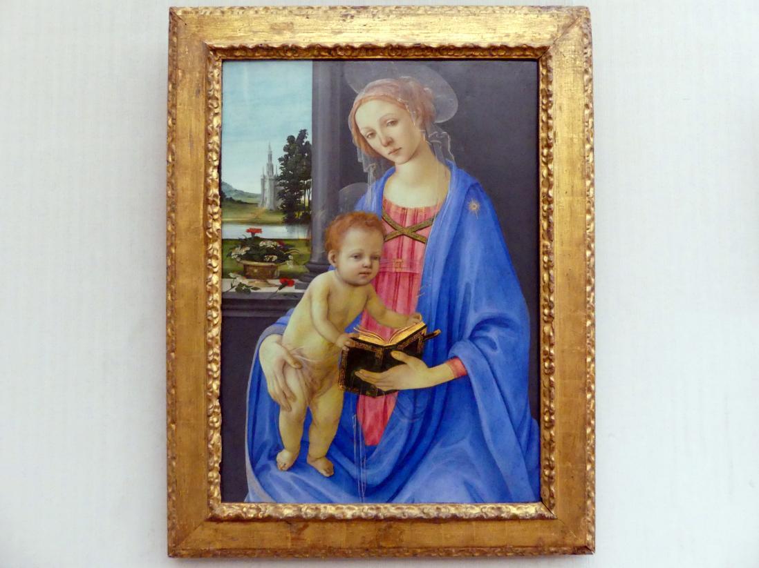 Filippino Lippi: Maria mit dem Kind, um 1475 - 1480