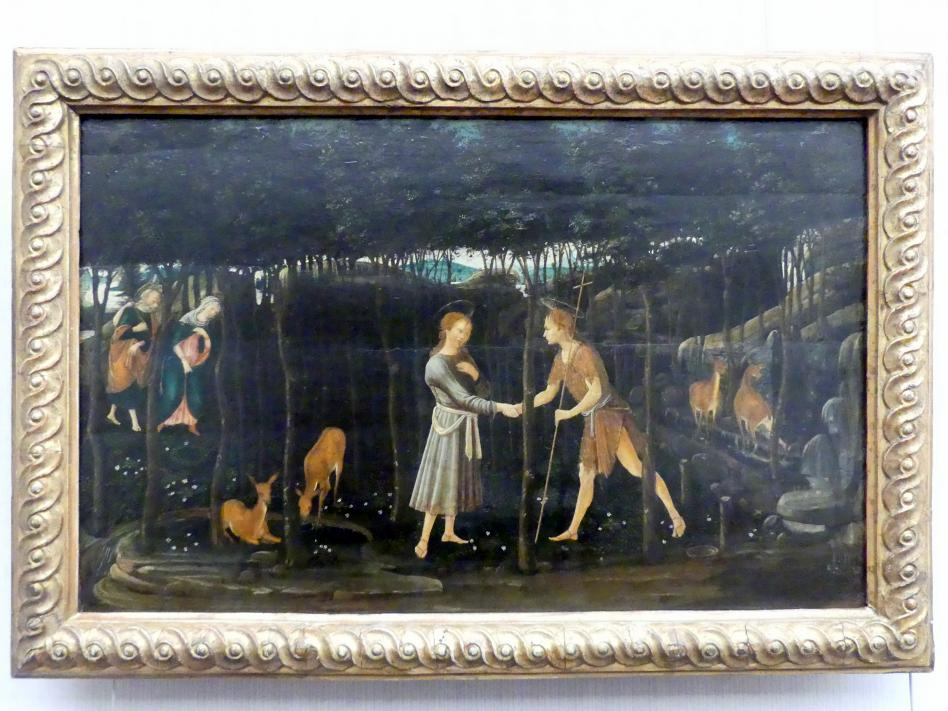 Domenico Ghirlandaio: Die Begegnung des Christusknaben mit dem Johannesknaben, Undatiert