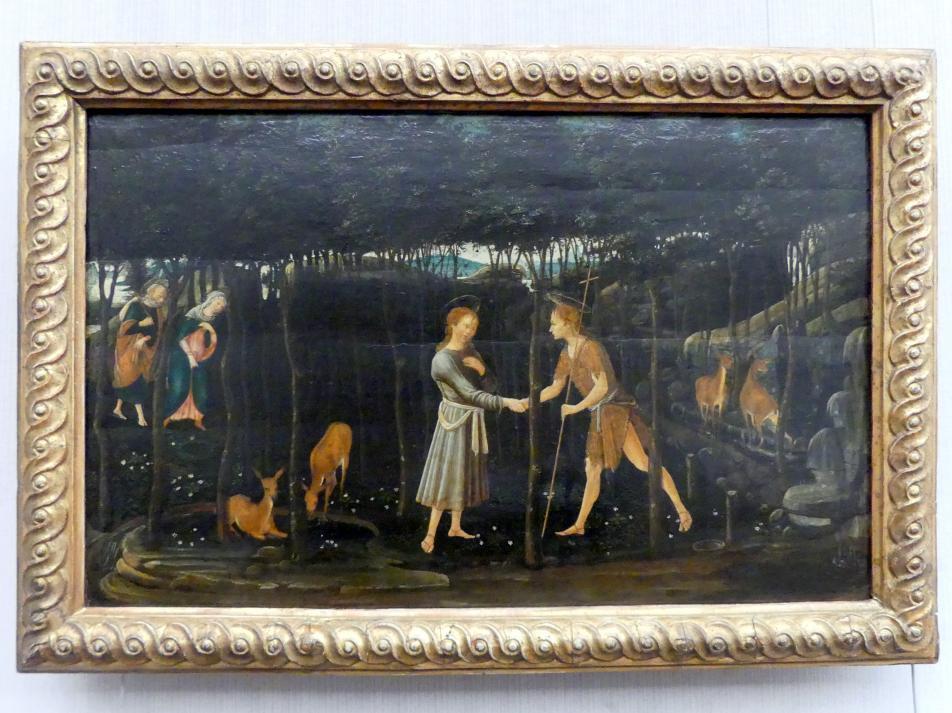 Jacopo del Sellaio: Die Begegnung des Christusknaben mit dem Johannesknaben, Undatiert