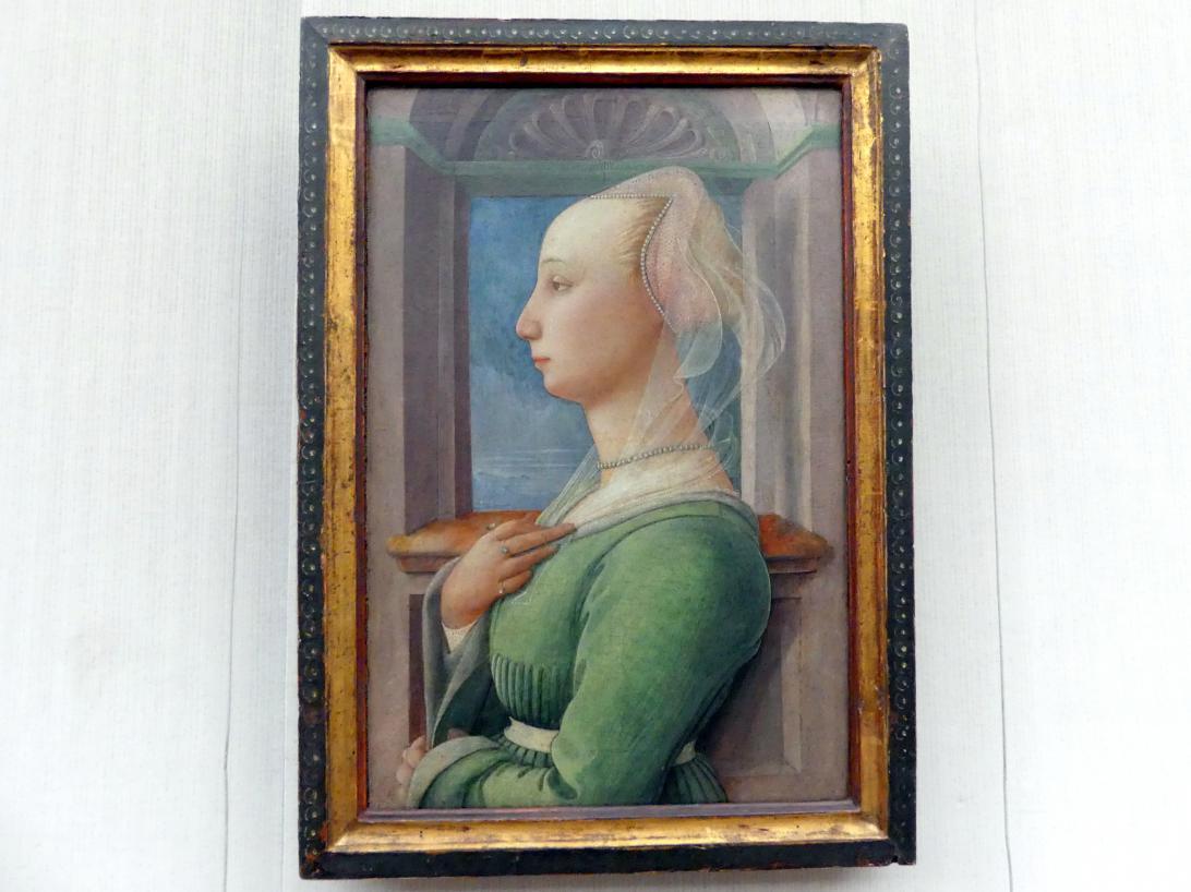 Fra Filippo Lippi: Profilbildnis einer jungen Frau, um 1445