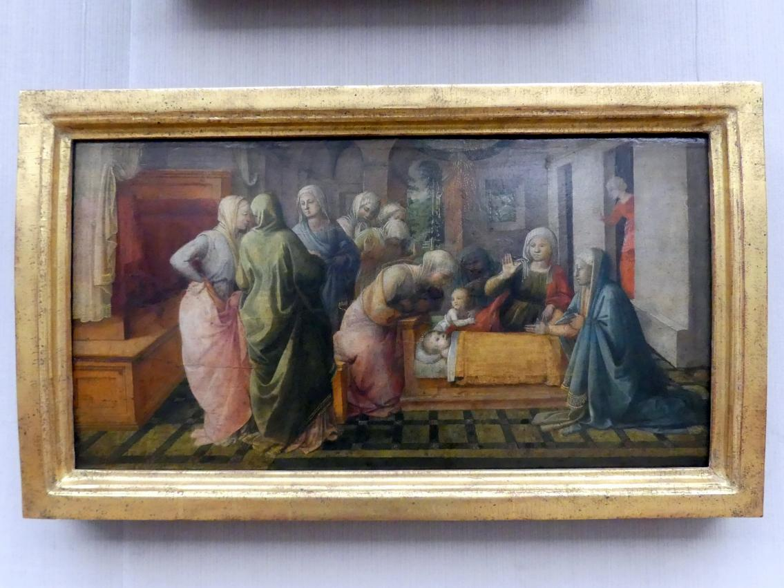 Fra Filippo Lippi: Das Bienenwunder des hl. Ambrosius, um 1441 - 1447, Bild 1/2