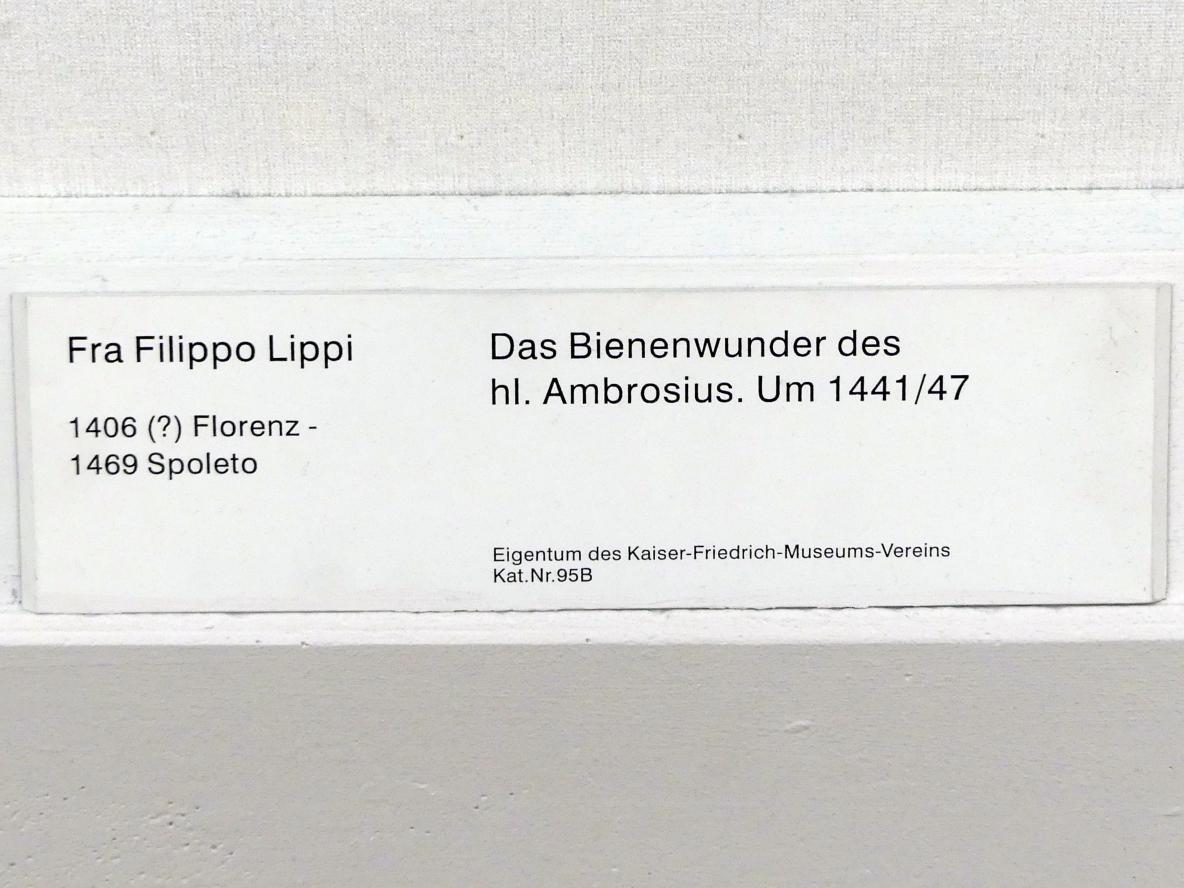 Fra Filippo Lippi: Das Bienenwunder des hl. Ambrosius, um 1441 - 1447, Bild 2/2