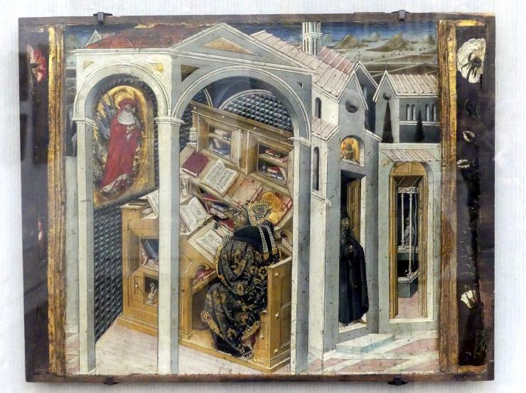 Giovanni di Paolo: Der hl. Hieronymus erscheint dem hl. Augustinus, Um 1465