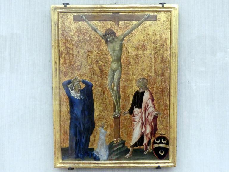 Giovanni di Paolo: Christus am Kreuz mit einem knienden Dominikaner (?), Undatiert