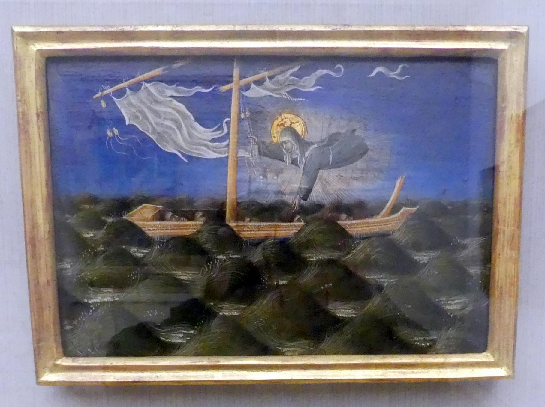 Giovanni di Paolo: Die hl. Klara rettet Schiffbrüchige, Um 1455
